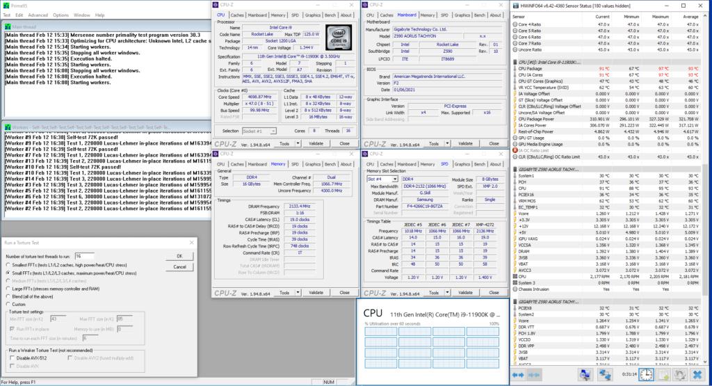 Core i9-11900K unlocked avx