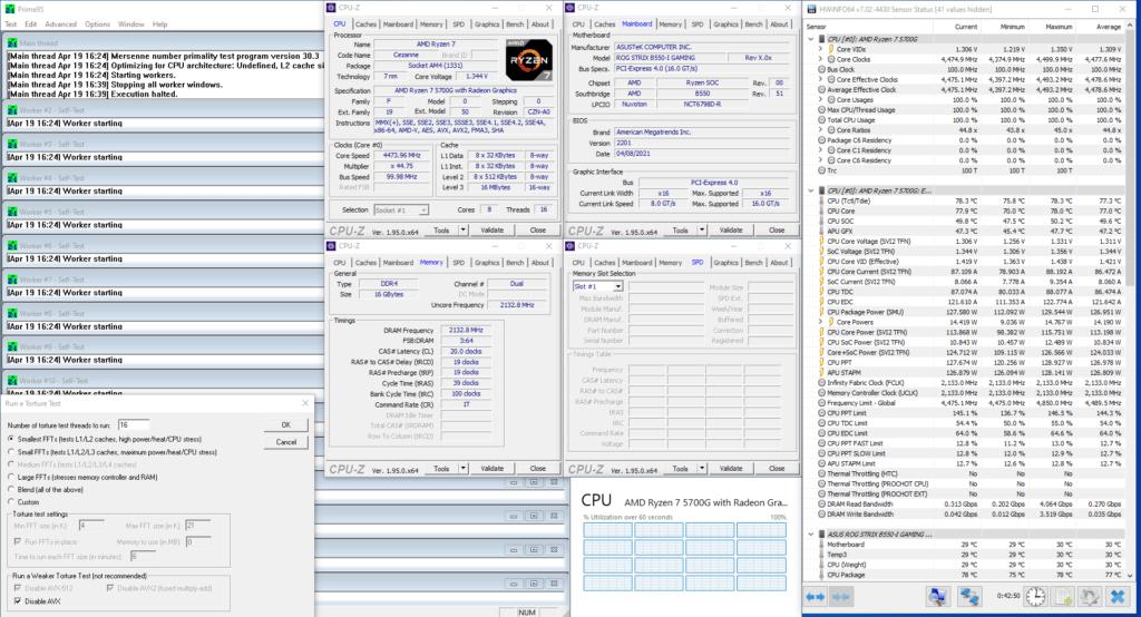ryzen 7 5700g prime 95 pbo2 curve optimizer