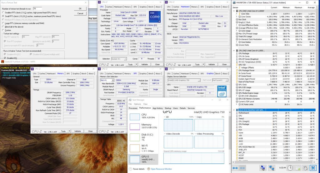 uhd graphics 750 at 1300mhz furmark gpu stress test