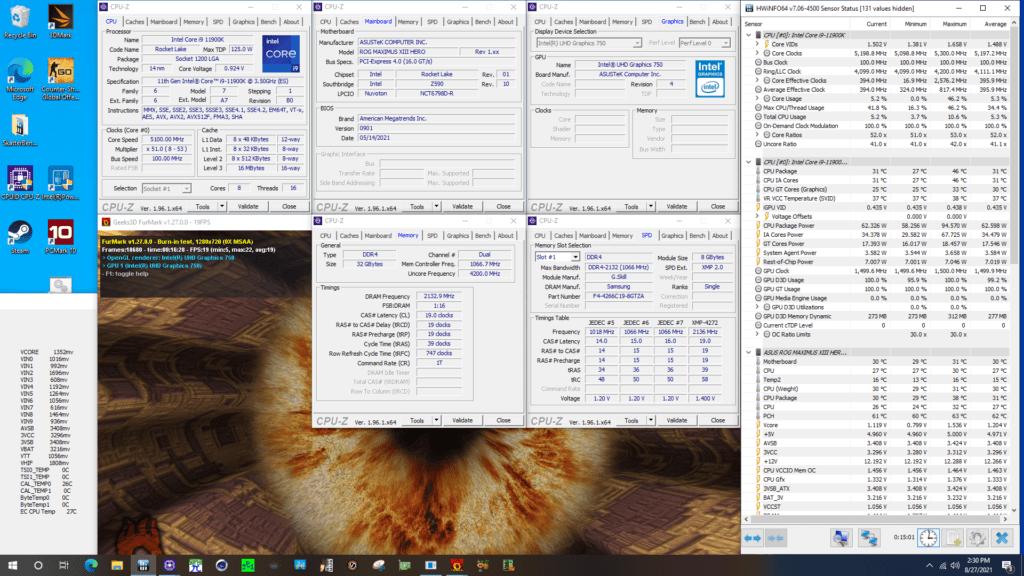 uhd graphics 750 at 1500mhz furmark gpu stress test