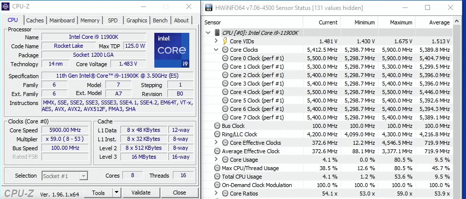 core i9 11900k 5900mhz