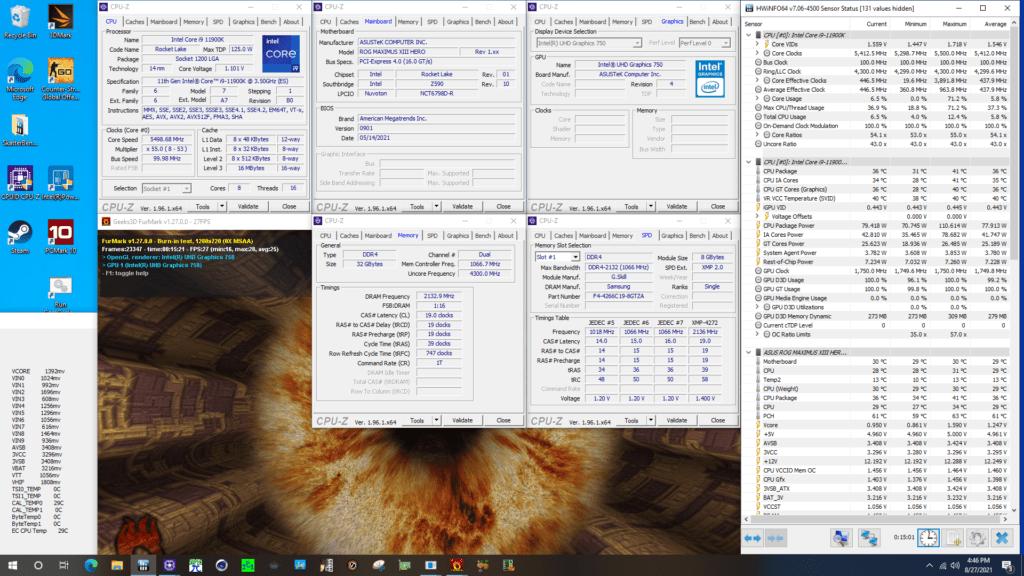 uhd graphics 750 at 1750mhz furmark gpu stress test